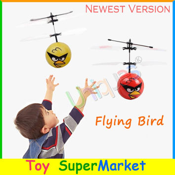 Flying Bird Drone UFO RC Remote Control Helicopter Quadcopter Hand Sense Flying Ball Fairy 2016 New Electronic Toys