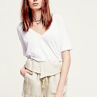 Free People Womens Slouchy Folder Short