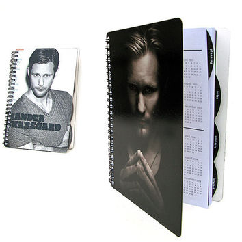 Eric True Blood 2012 - 2013 Daily Planner / Calendar Up-Cycled Alexander Skarsgard (Two Cover Choices Available)