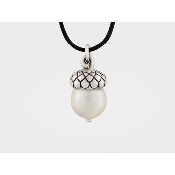 25% Reduced - Acorn Pendant with Pearl