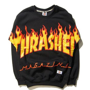 Day-First™ Womens Thrasher Pullover Skateboard Cotton Sweatshirts