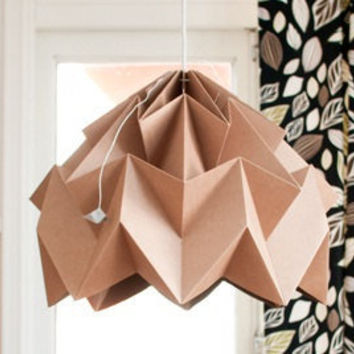 Moth origami lampshade cardboard by nellianna on Etsy