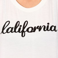 Black/Ivory California Tank