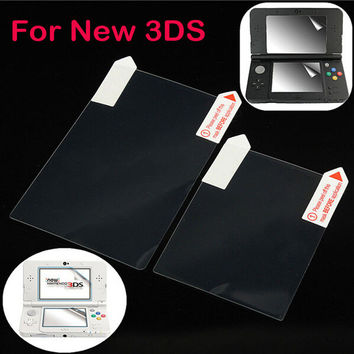 2in1 Top Bottom HD Clear Protective Film Surface Guard Cover for Nintendo New 3DS LCD Transparent Screen Protector Skin