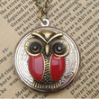 Steampunk Owl 61401 Locket Necklace Vintage Style by sallydesign