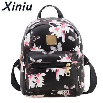 XINIU 2017 Women Classic Backpack Girls Washed Leather Preppy Style School Backpacks Ladies Mochila Satchel Shoulder Bags