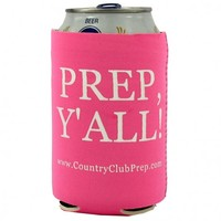 Prep, Y'all! Koozie in Hot Pink by Country Club Prep