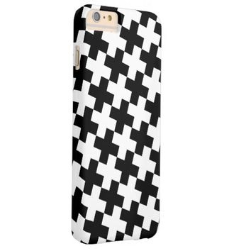 Black and White Crosses Barely There iPhone 6 Plus Case