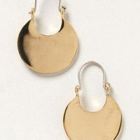 Pressed Crescent Earrings by Winifred Grace Gold One Size Earrings