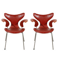 Pair of Arne Jacobsen 'Lily' Armchairs