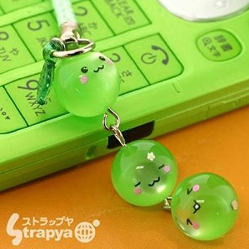 Aoringo Kun Triplets Crystal Cell Phone Strap