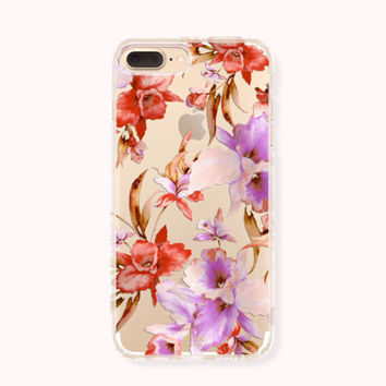 Floral iPhone 7 Case, iPhone 7 Plus Case, iPhone 6/6S Case, iPhone 6/6S Plus Case, iPhone 5/5S/SE Case, SAMSUNG Galaxy Case - Morning Glory
