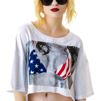 Rehab USA Shredded Bikini Shirt White