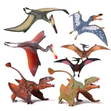Action&Toy Figures Jurassic 7 Styles Pterosauria Dragon Dinosaur PVC Toys Collection Model Plastic Doll Animal For Kids Gift