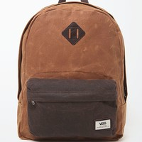 Vans Old Skool Plus Waxed School Backpack - Mens Backpacks - Brown - NOSZ