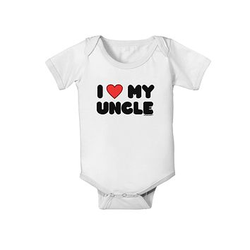 I Heart My Uncle Baby Romper Bodysuit by TooLoud