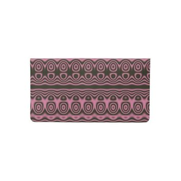 Pink and Black Circles Checkbook Cover