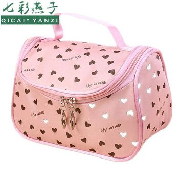 DCCKHG7 2017 New Zipper Cosmetic Bag Lady Travel Organizer Accessory Toiletry Cosmetic Make Up Holder Case Bag Pouch Gift Free S386