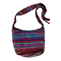 Recycled Silk Bucket Bag - Nepal