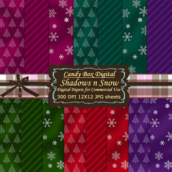Winter Digital Papers,  Winter Paper, snow digital paper, snow paper, Digital Scrapbook Paper, Digital Scrapbooking - Commercial Use OK