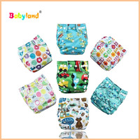 Newest Color Babyland Diaper 50PCS+10PCS Wet Bag For Free Cloth Diaper Babies
