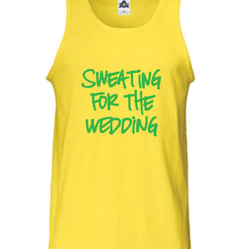 Sweating for the Wedding Bridal Boot Camp Beast Workout Training gym fitness sweat T-Shirt Tee Shirt Tank top Ladies Womens DT-343