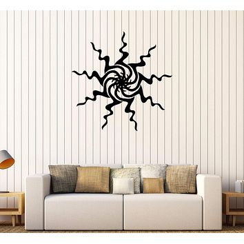 Vinyl Wall Decal Sun Art Room Decoration Home Interior Idea Stickers Unique Gift (325ig)