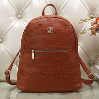 CH Carolina Herrera Women Leather Shoulder Bag School Satchel Bookbag Backpack