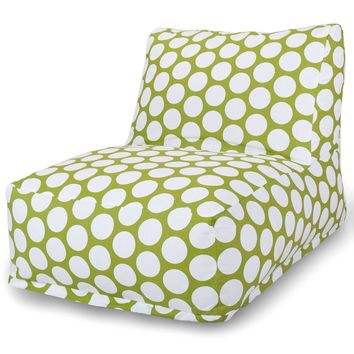 Hot Green Large Polka Dot Bean Bag Chair Lounger