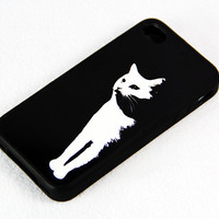 Black and White Stylish Cat iPhone 4S/4 Case,iPhone 5 Case,iPod Touch 5 and 4 Case,and Samsung Galaxy Phone Case