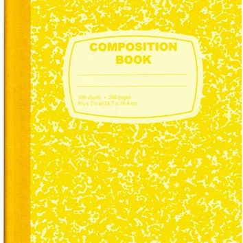 Yellow Composition Notebook - 100 Sheets