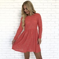 Umbridge Knit Dress in Coral