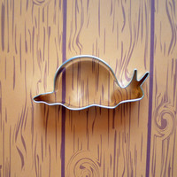 Snail Cookie Cutter - 4.25 Inch Metal Cookie Cutter