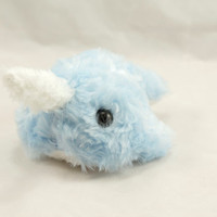 Narwhal Plush in Baby Blue Cuddle  - Small