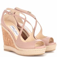 Dakota 120 leather wedge sandals