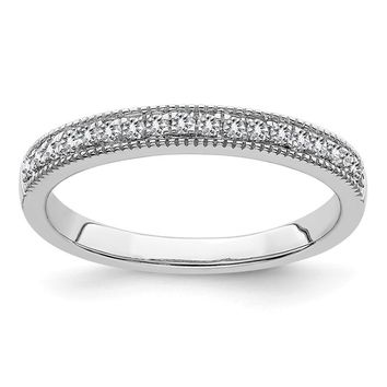 14k White Gold .18ct Round Moissanite Anniversary Band