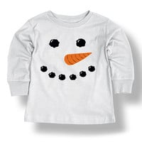 White Snowman Face Tee - Infant | zulily