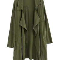 Army Green Fall Fashion Trench Coat