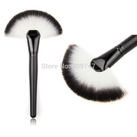 Soft Makeup Large Fan Brush Blush Powder Foundation Make Up Tool  big fan Cosmetics brushes