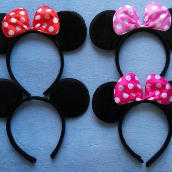 Adult Minnie Mickey Mouse Ears Headband