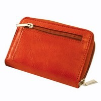 Red Accordion Wallet