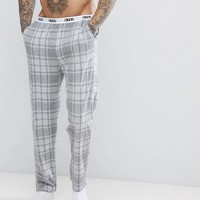 ASOS Pyjamas In Grey Check at asos.com