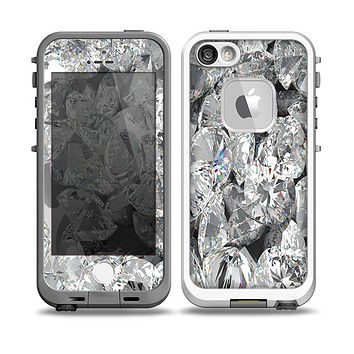 The Scattered Diamonds Skin for the iPhone 5-5s Fre LifeProof Case