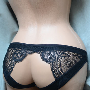 Clothing Shoes & Accessories Women's Clothing Intimates Panties  Handmade Lingerie The Lacey Detail Panties MADE TO ORDER