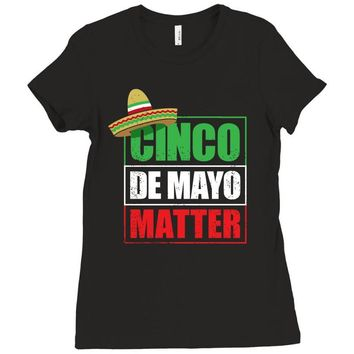 cinco de mayo  drunk lives matter Ladies Fitted T-Shirt
