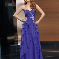 Sweetheart A-Line Floor Length Gown with Chiffon Style 70610 $147.99 only in eFexcity.com.