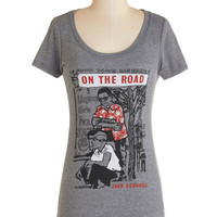 Out of Print Nifty Nerd Short Sleeves Novel Tee in Sal