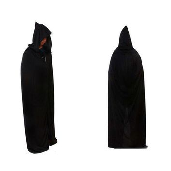 CREYUG3 Halloween Death Devil Tippet Hoody Cloak Costume Cosplay Theater Prop Cap Black = 1932218308