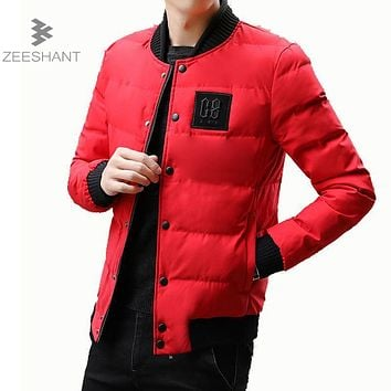 ZEESHANT Autumn Winter Parka Light Men Jacket Coat Outerwear Fashion Hood Padded Quilted Warm Male Jackets Hooded Casual Wadde