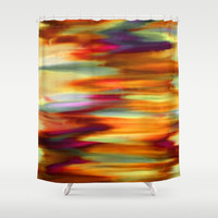 Early Sunset Sky Shower Curtain by Jenartanddesign